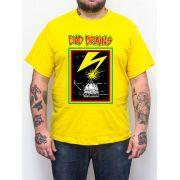 Camiseta Bad Brains Amarelo Plus Size - Tamanho Grande