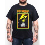 Camiseta Bad Brains Preto Plus Size - Tamanho Grande