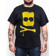 Camiseta Bart Caveira - Plus Size - Tamanho XG