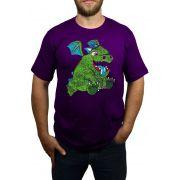 Camiseta Bebê Dragão - Clash Royale - Roxo