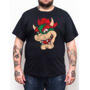 Camiseta Bowser - Plus Size - Tamanho XG