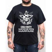 Camiseta Call of Duty MW Caveira - Plus Size - Tamanho XG