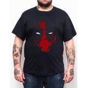 Camiseta Deadpool Mask - Plus Size - Tamanho XG