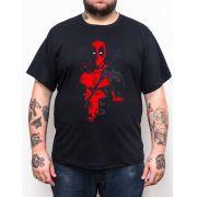 Camiseta Plus Size Deadpool Mask - Tamanho XG
