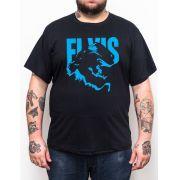 Camiseta Elvis - Preto - Plus Size - Tamanho Grande Xg