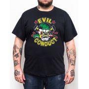 Camiseta Evil Conduct Bulldog Plus Size - Tamanho Grande