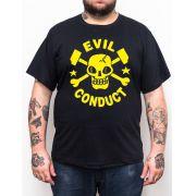 Camiseta Evil Conduct Logo Plus Size - Tamanho Grande