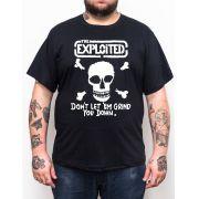 Camiseta Exploited - Preto - Plus Size - Tamanho Grande Xg