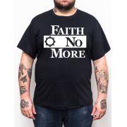 Camiseta Faith No More - Preto - Plus Size - Tamanho Grande Xg