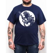Camiseta Godzilla Violão - Tamanho Grande Xg