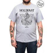 Camiseta Holdfast Anchor - Cinza Mescla - Plus Size - Tamanho Grande XG