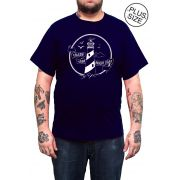 Camiseta Holdfast Follow Your Light - Azul Marinho - Plus Size - Tamanho Grande XG