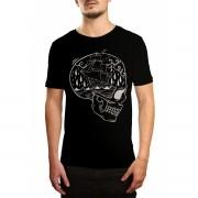 Camiseta Holdfast Skull Ship Preta Preto