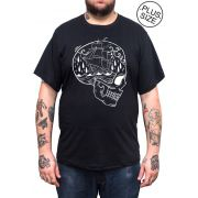 Camiseta Holdfast Skull Ship - Preto - Plus Size - Tamanho Grande XG