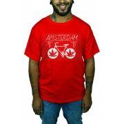 Camiseta HShop Amsterdam Bike Vermelho