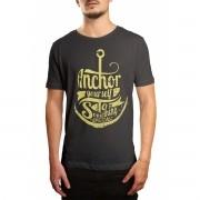 Camiseta HShop Ancora Cinza