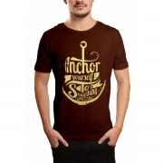 Camiseta HShop Ancora Marrom