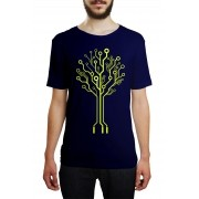 Camiseta HShop Arvore Usb Azul
