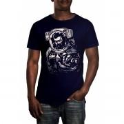 Camiseta HShop Astronauta Zumbi Azul