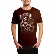 Camiseta HShop Astronauta Zumbi Marrom