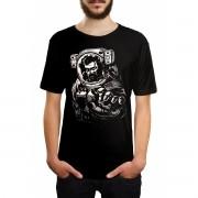 Camiseta HShop Astronauta Zumbi Preto