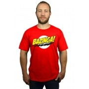 Camiseta Bazinga Vermelho - Camiseta do Sheldon