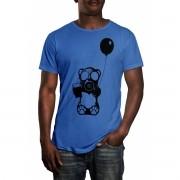 Camiseta HShop Bear Balloon Azul