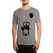 Camiseta HShop Bear Balloon Cinza