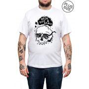 Camiseta Hshop Beer Sun - Branco - Plus Size - Tamanho Grande XG