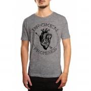 Camiseta HShop Broken Promisses Cinza