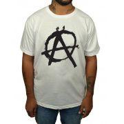 Camiseta HShop Camiseta Anarquia - Branca