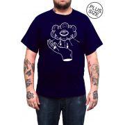 Camiseta Hshop Can See U - Azul Marinho - Plus Size - Tamanho Grande XG