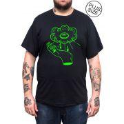 Camiseta Hshop Can See U - Preto - Plus Size - Tamanho Grande XG