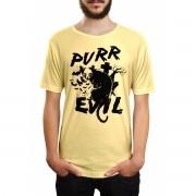 Camiseta HShop Cat Evil Amarelo