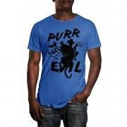 Camiseta HShop Cat Evil Azul