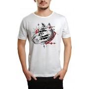 Camiseta HShop Catz - Branco