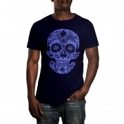 Camiseta HShop Caveira Mexicana Azul
