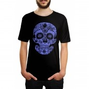 Camiseta Caveira Mexicana Preto