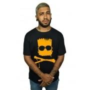 Camiseta Bart Caveira Preto - Simpsons