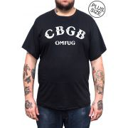 Camiseta Hshop CBGB - Preto - Plus Size - Tamanho Grande XG