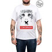 Camiseta Hshop Censurado - Branco - Plus Size - Tamanho Grande XG