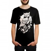 Camiseta HShop Coruja Preta