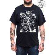 Camiseta Hshop Costelinha - Preta - Plus Size - Tamanho Grande XG