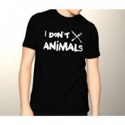 Camiseta Eu não como animais - Vegetarianismo Vegan