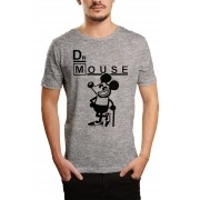 Camiseta HShop Dr Mouse Cinza