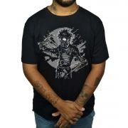 Camiseta Edward Maos de Tesoura - Mascara de Gás
