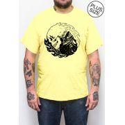 Camiseta Hshop Equilibrium - Amarelo Bebê - Plus Size - Tamanho Grande XG