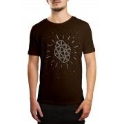 Camiseta HShop Galáxia Marrom