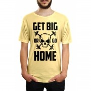 Camiseta HShop Get Big Or Go Home Amarela