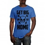 Camiseta HShop Get Big Or Go Home Azul